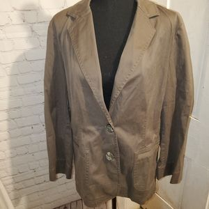 J Jill Blazer Brown Size Medium